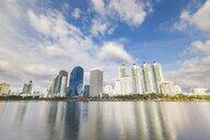 Thailand, Bangkok, modern residential skyscrapers at Chao Phraya river - WPEF01352