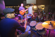 Drummer performing on stage at concert - HEROF14915