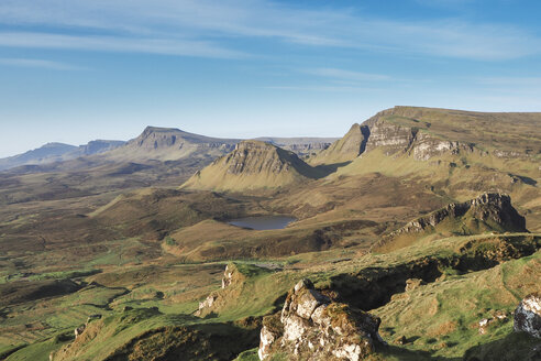 United Kingdom, Scotland, Isle of Skye, View from Quiraing to Trotternish Ridge - HUSF00001