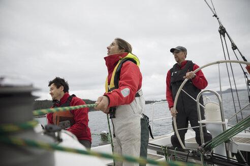 Sailing team training on sailboat - HEROF17120