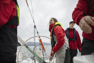 Sailing team training on sailboat - HEROF17126
