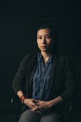 Renaissance portrait confident, strong young female millennial - HEROF17261