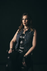 Renaissance portrait confident, strong, stylish female millennial - HEROF17285