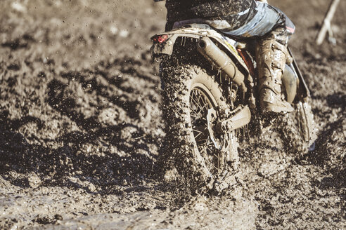 Close-up motocross wheel with water and mud - OCMF00261