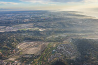 USA, California, Del Mar, Aerial view during hot air ballooning - RUNF01101