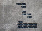 Indonesia, Bali, Aerial view of car park, black cars - KNTF02631