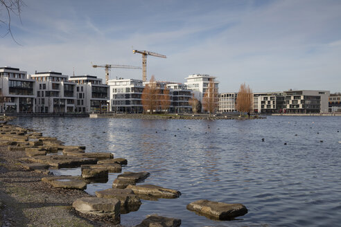 Germany, Dortmund-Hoerde,  development area with office buildings and multi-family house - WIF03802