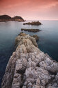 Spain, Cala S'Alguer, Costa Brava, sunset - DSGF01805