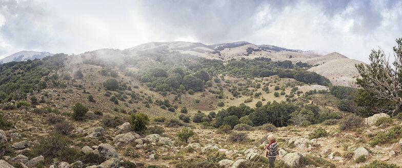 Italy, Sicily, Castelbuono, Parco delle Madonie, senior woman hiking - MAMF00387