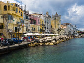 Italy, Campania, Ischia, Forio, Old town at harbour - AMF06770