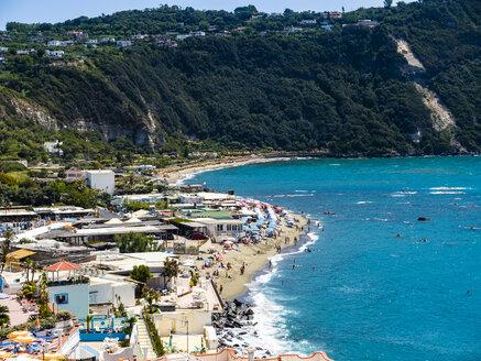 Italy, Campania, Ischia, Forio, view to beach - AMF06773