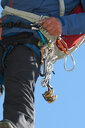 Safety harness worn by mountaineer - CUF48895