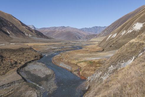 Georgia, Greater Caucasus, Truso Gorge with Terek River - KEBF01126