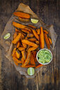Sweet potato wedges with avocado dip - LVF07770