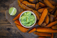 Sweet potato wedges with avocado dip - LVF07773