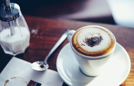 Cup of Cappuccino on restaurant table - PPXF00147