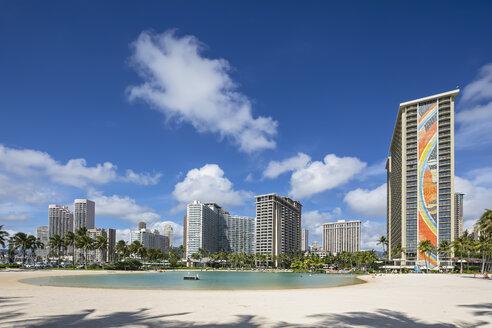 USA, Hawaii, Oahu, Honolulu, Waikiki Beach, Duke Kahanamoku Lagoon - FOF10329