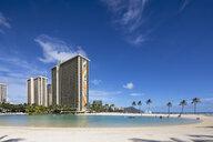 USA, Hawaii, Oahu, Honolulu, Waikiki Beach, Duke Kahanamoku Lagoon - FOF10332