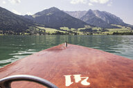 Austria, Tyrol, Walchsee, view from boat to Kitzbuehel Alps, Kaiserwinkl - MAMF00400