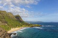 USA, Pazific Ocean, Hawaii, Oahu, View from Makapu'U Point, Makapu'u Beach - FOF10343