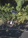 Indonesia, Bali, solar-powered street lamp, aerial view - KNTF02652