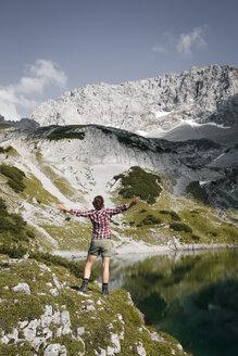 austria, Tirol, Drachensee, Mountain, family - FKF03277