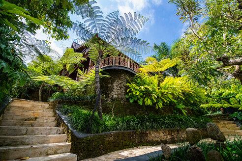 Garden at luxury resort, Ubud, Bali, Indonesia - ISF20857