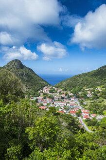 Overlook over The Bottom, capital of Saba, Caribbean, Netherland Antilles - RUNF01184