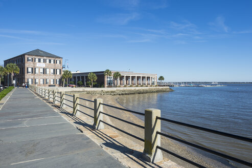 Historical Charleston foundation along the seafront, Charleston, South Carolina, USA - RUN01221