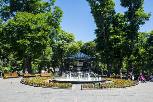 Ukraine, Odessa, City garden, fountain - RUN01230
