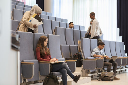 Young students studying in lecture hall at university - MASF11301