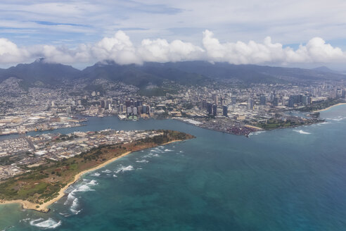 USA, Hawaii, Oahu, Honolulu, Waikiki Beach, Aerial View - FOF10432