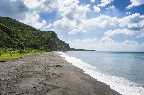British Overseas Territory, Montserrat, Volcanic sand beach - RUNF01282