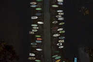 Finland, Kuopio, Aerial view of boats on a road - PSIF00239
