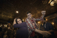 Couple dancing at party - HEROF23656