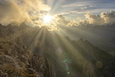 Italy, Veneto, Dolomites, Alta Via Bepi Zac, Sunset - LOMF00821