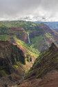 USA, Hawaii, Kaua'i, Waimea Canyon State Park, View to Waimea Canyon, Waipo'o Falls - FOF10484