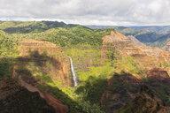 USA, Hawaii, Kaua'i, Waimea Canyon State Park, View to Waimea Canyon, Waipo'o Falls - FOF10493