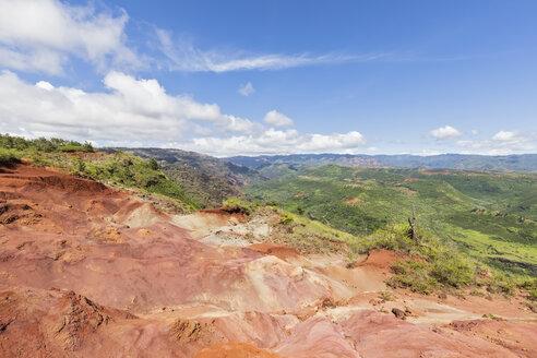 USA, Hawaii, Kaua'i, Waimea Canyon State Park, View to Waimea Canyon, Waimea Ditch, Mokihana Valley, erosions - FOF10496