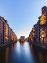 Germany, Hamburg, Old Warehouse District and Wasserschloss - WDF05118