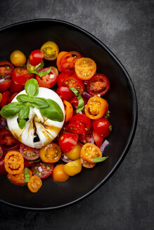 Bowl of tomato salad with burrata - LVF07817