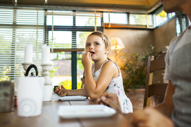 Girl having breakfast at home - ASTF04226
