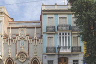 Spain, Valencia, El Cabanyal, facades of houses - KEBF01169