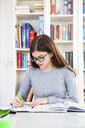 Girl doing homeworks - LVF07824