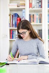 Girl doing homeworks - LVF07824