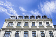 Germany, Berlin, facade of rehabilitated multi-family house - ALEF00098