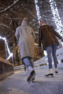Serbia, Novi Sad, Ice skating, Friends, Night - ZEDF01901
