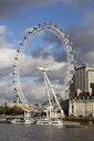 UK, London, River Thames, London Eye - WI03838