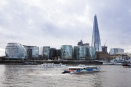 UK, London, Southwark, River Thames, City Hall and The Shard - WI03844
