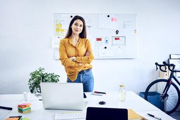 Portrait of confident businesswoman in office - BSZF01037